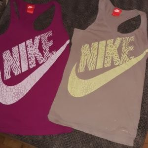 2 NIKE tank tops!!! Size small
